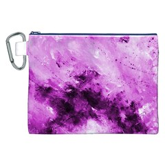 Bright Pink Abstract Canvas Cosmetic Bag (XXL)