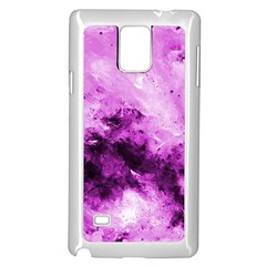 Bright Pink Abstract Samsung Galaxy Note 4 Case (White)