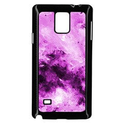 Bright Pink Abstract Samsung Galaxy Note 4 Case (Black)