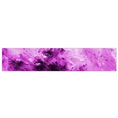 Bright Pink Abstract Flano Scarf (Small)