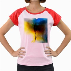 Watercolor Abstract Women s Cap Sleeve T-Shirt