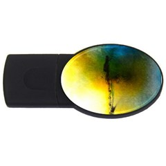 Watercolor Abstract Usb Flash Drive Oval (2 Gb)