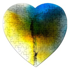 Watercolor Abstract Jigsaw Puzzle (heart)