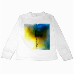 Watercolor Abstract Kids Long Sleeve T-Shirts
