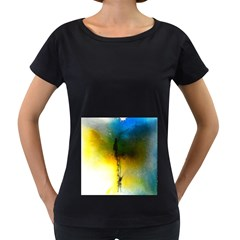 Watercolor Abstract Women s Loose Fit T Shirt (black)