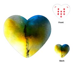 Watercolor Abstract Playing Cards (Heart)