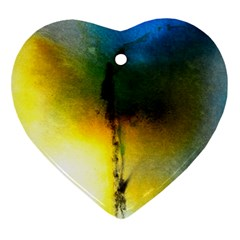 Watercolor Abstract Heart Ornament (2 Sides)