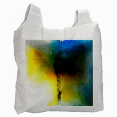 Watercolor Abstract Recycle Bag (one Side)