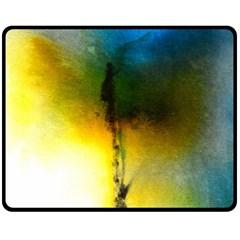 Watercolor Abstract Fleece Blanket (Medium)