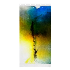 Watercolor Abstract Shower Curtain 36  x 72  (Stall)