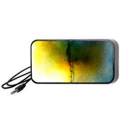 Watercolor Abstract Portable Speaker (Black)