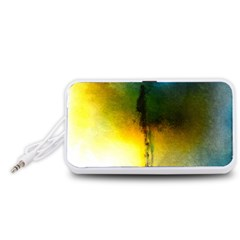 Watercolor Abstract Portable Speaker (White)