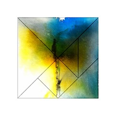 Watercolor Abstract Acrylic Tangram Puzzle (4  x 4 )