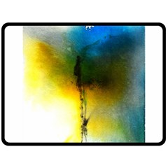 Watercolor Abstract Double Sided Fleece Blanket (Large)
