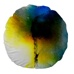Watercolor Abstract Large 18  Premium Flano Round Cushions