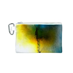 Watercolor Abstract Canvas Cosmetic Bag (s)