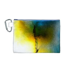 Watercolor Abstract Canvas Cosmetic Bag (M)