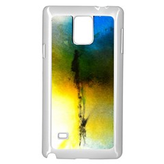 Watercolor Abstract Samsung Galaxy Note 4 Case (White)
