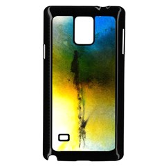 Watercolor Abstract Samsung Galaxy Note 4 Case (Black)