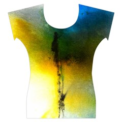 Watercolor Abstract Women s Cap Sleeve Top
