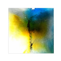 Watercolor Abstract Small Satin Scarf (Square)