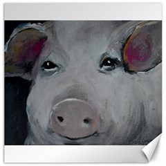 Piggy No  1 Canvas 12  X 12