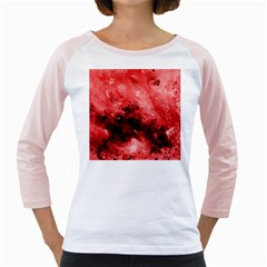 Red Abstract Girly Raglans