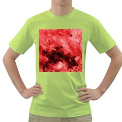 Red Abstract Green T Shirt