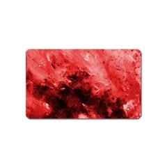 Red Abstract Magnet (name Card)