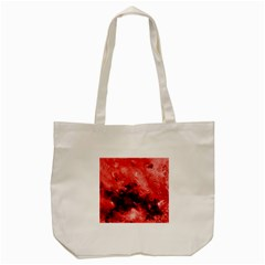 Red Abstract Tote Bag (Cream)