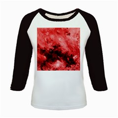 Red Abstract Kids Baseball Jerseys