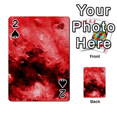 Red Abstract Playing Cards 54 Designs