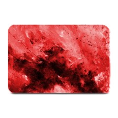 Red Abstract Plate Mats