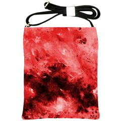 Red Abstract Shoulder Sling Bags