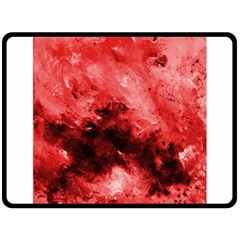 Red Abstract Fleece Blanket (Large)
