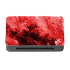 Red Abstract Memory Card Reader with CF