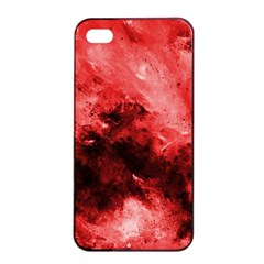 Red Abstract Apple iPhone 4/4s Seamless Case (Black)