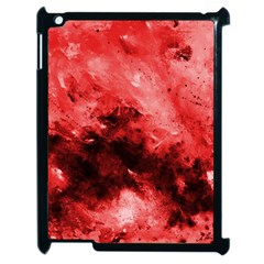 Red Abstract Apple Ipad 2 Case (black)