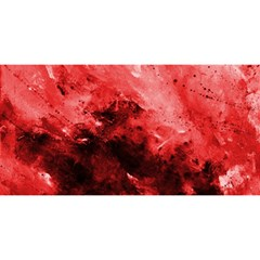 Red Abstract YOU ARE INVITED 3D Greeting Card (8x4)