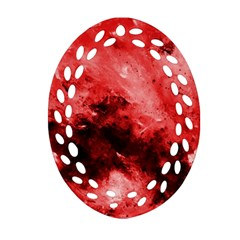 Red Abstract Ornament (oval Filigree)