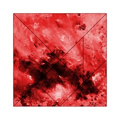 Red Abstract Acrylic Tangram Puzzle (6  X 6 )