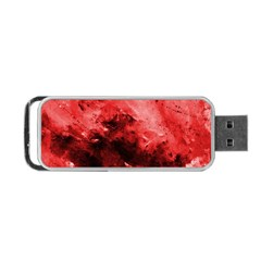 Red Abstract Portable Usb Flash (two Sides)