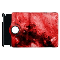 Red Abstract Apple Ipad 2 Flip 360 Case