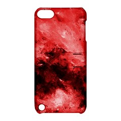 Red Abstract Apple Ipod Touch 5 Hardshell Case With Stand