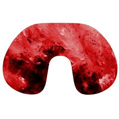 Red Abstract Travel Neck Pillows