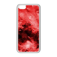 Red Abstract Apple Iphone 5c Seamless Case (white)