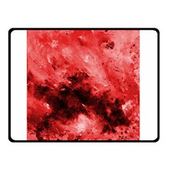 Red Abstract Double Sided Fleece Blanket (Small)