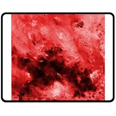 Red Abstract Double Sided Fleece Blanket (Medium)