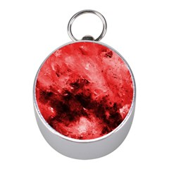 Red Abstract Mini Silver Compasses