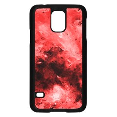 Red Abstract Samsung Galaxy S5 Case (Black)